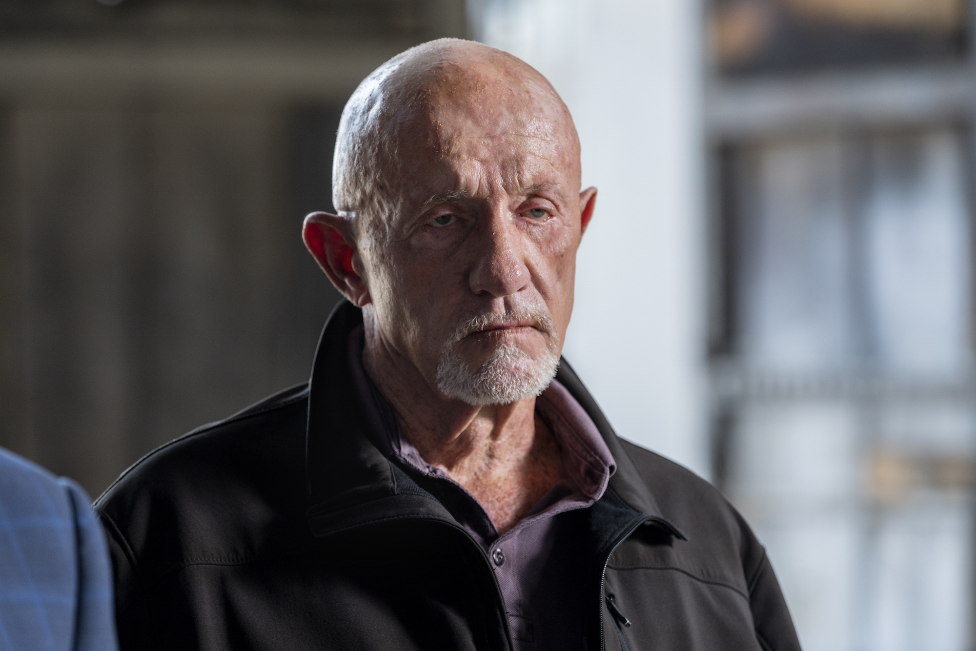 Jonathan Banks as Mike Ehrmantraut - Better Call Saul _ Season 5, Episode 6 - Photo Credit: Greg Lewis/AMC/Sony Pictures Television