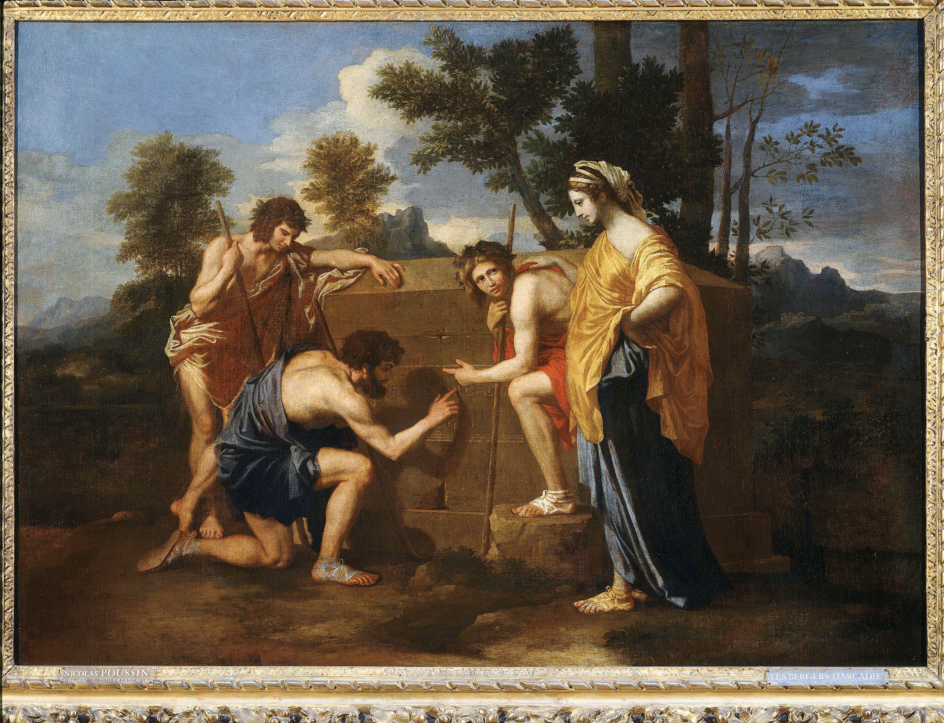 Les bergers d'Arcadie (shepherds of Arcadia), also called Et in Arcadia Ego (Nicolas Poussin)Art (Paintings) - various Artist: POUSSIN, Nicolas (1594-1665, French ) Location: Musée du Louvre Paris