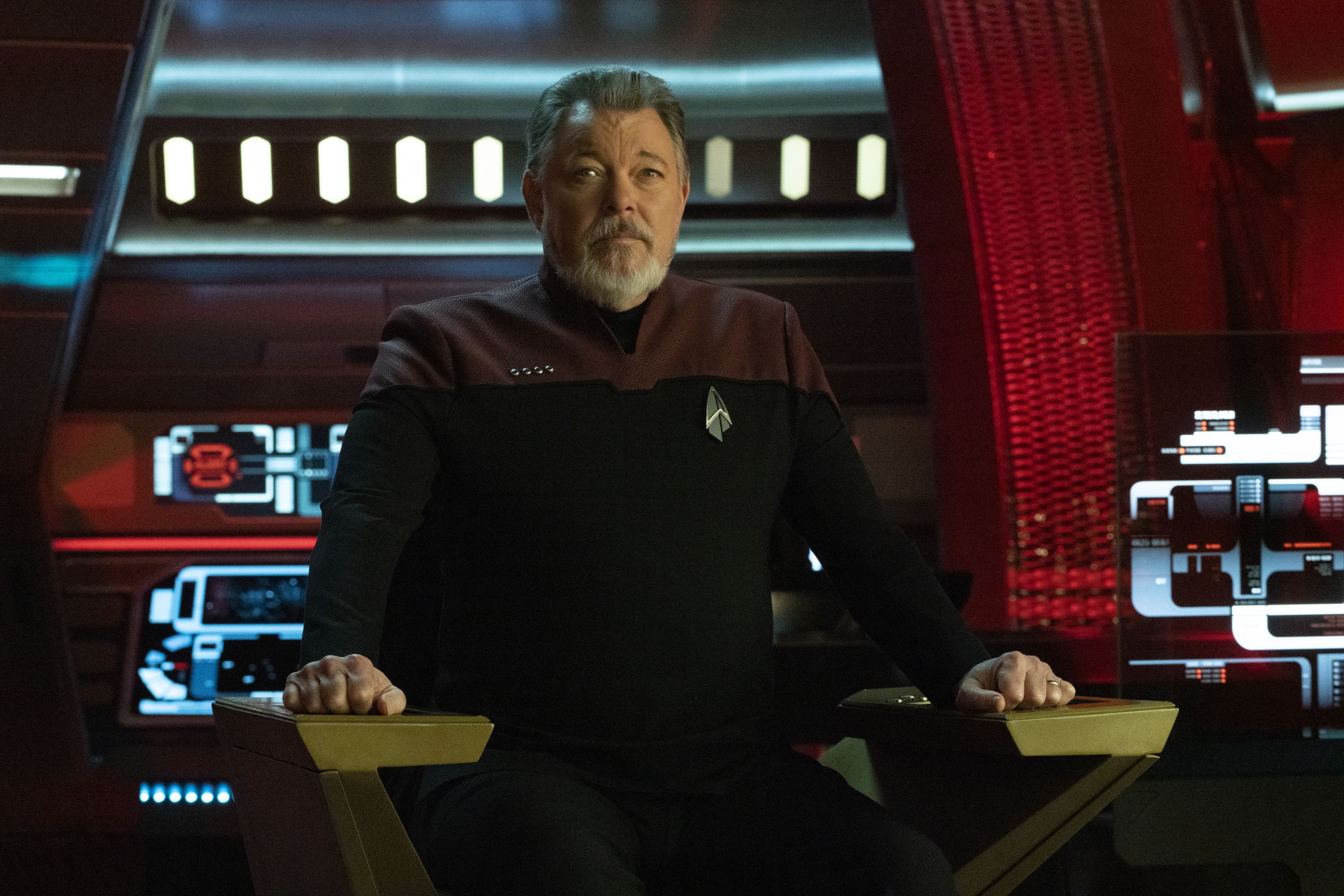 Captain William T. Riker of the USS Zheng He means business.