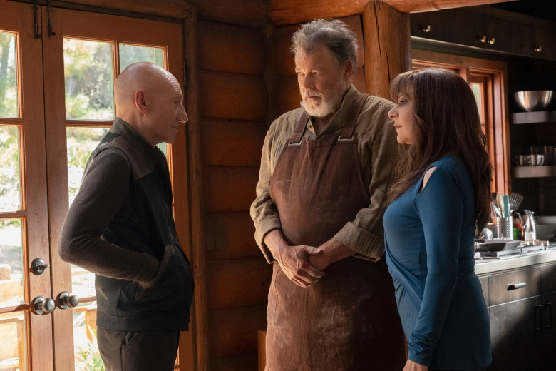Picard, Riker and Troi