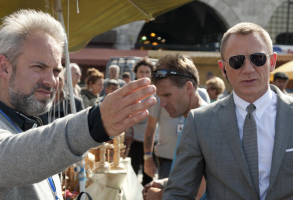 "Sam Mendes and Daniel Craig on ""Skyfall"" set"