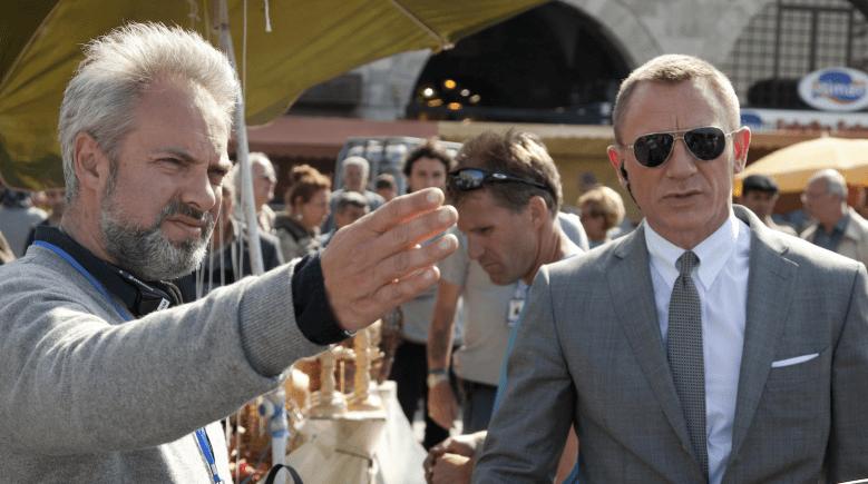 "Sam Mendes and Daniel Craig on ""Skyfall"" set"