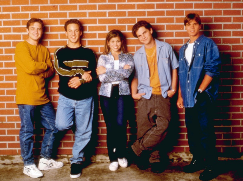 BOY MEETS WORLD, Will Friedle, Ben Savage, Danielle Fishel, Rider Strong, Matthew Lawrence (1997-2000). 1993-2000. (c) Buena Vista Television/ Courtesy: Everett Collection.