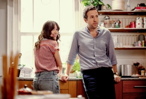 """Esther Smith and Rafe Spall in """"Trying"""" Apple TV+"""