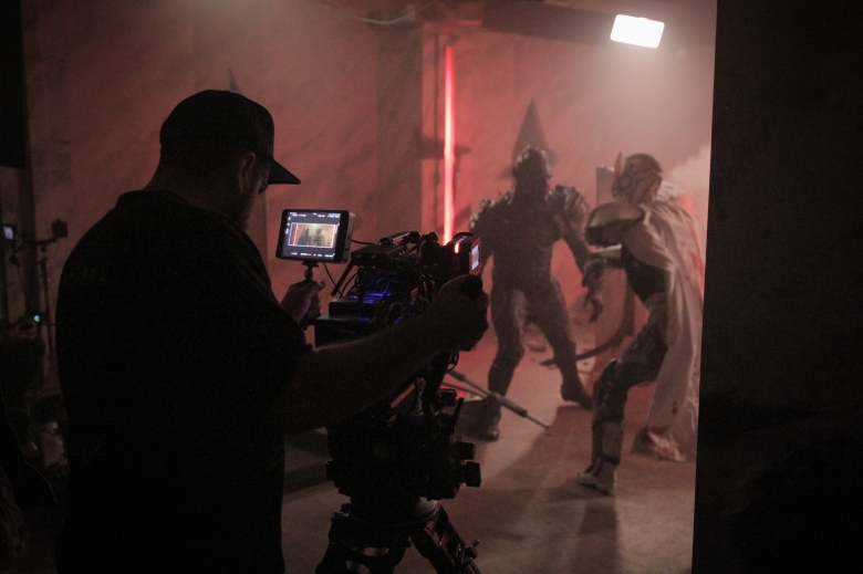 "On the set of ""PG (Psycho Goreman)"""