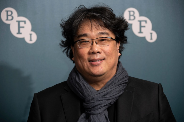 Bong Joon-ho poses for photographers upon arrival at the BFI Fellowship reception for actress Tilda Swinton at a central London hotelTilda Swinton BFI Fellowship, London, United Kingdom - 02 Mar 2020