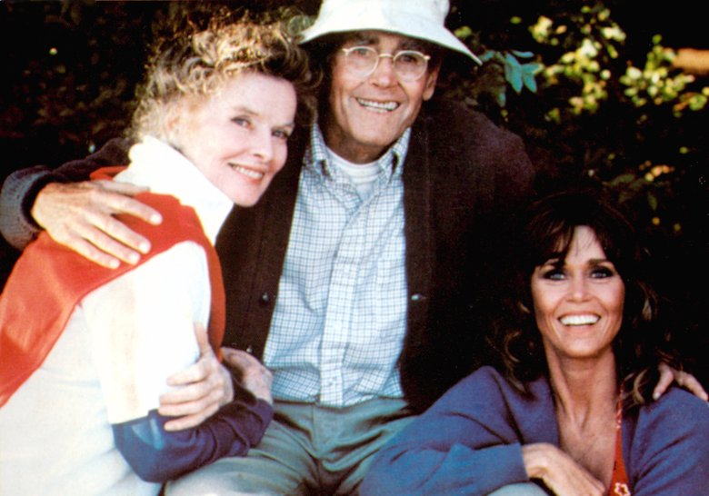Editorial use onlyMandatory Credit: Photo by ITV/Shutterstock (790385iq) ON GOLDEN POND, Katharine Hepburn, Henry Fonda, Jane Fonda, 1981. GTV Archive