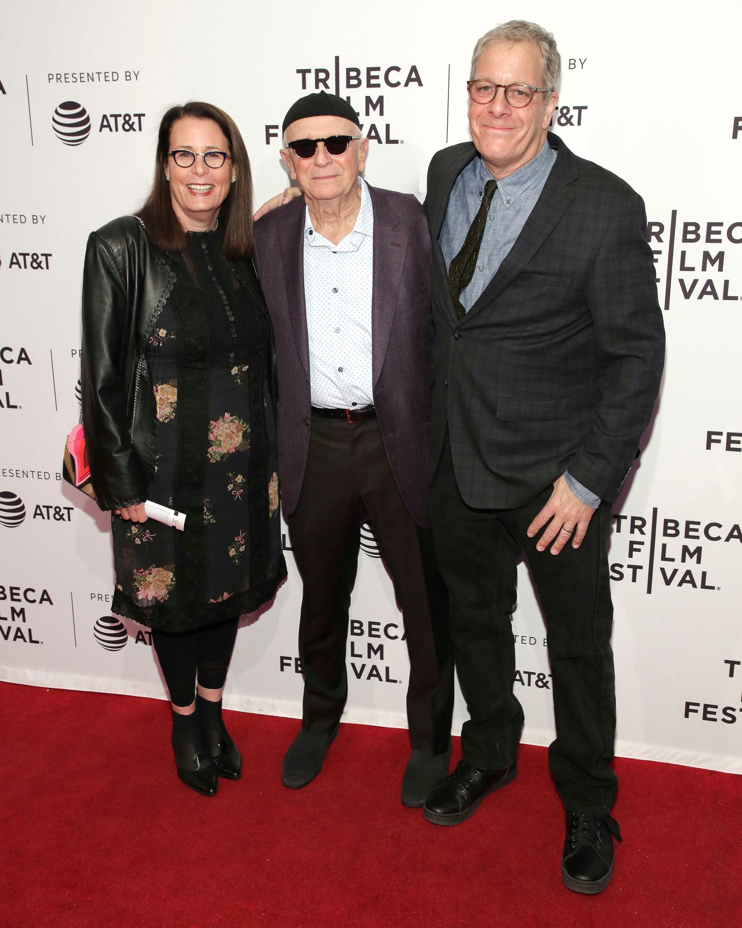 """Marcia Ross, Terrence McNally, Jeff Kaufman. Producer Marcia Ross, from left, playwright Terrence McNally, and director Jeff Kaufman attend a screening of """"Every Act of Life"""" at the SVA Theatre during the 2018 Tribeca Film Festival on in New York2018 Tribeca Film Festival - """"Every Act of Life"""" Screening, New York, USA - 23 Apr 2018"""