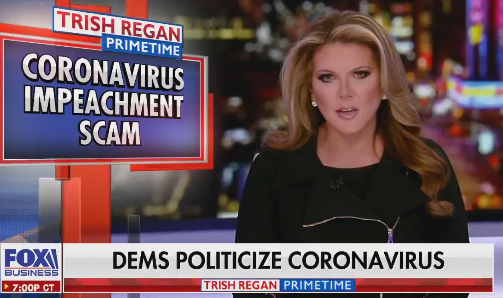 Trish Regan Out At Fox After Dismissing Coronavirus As