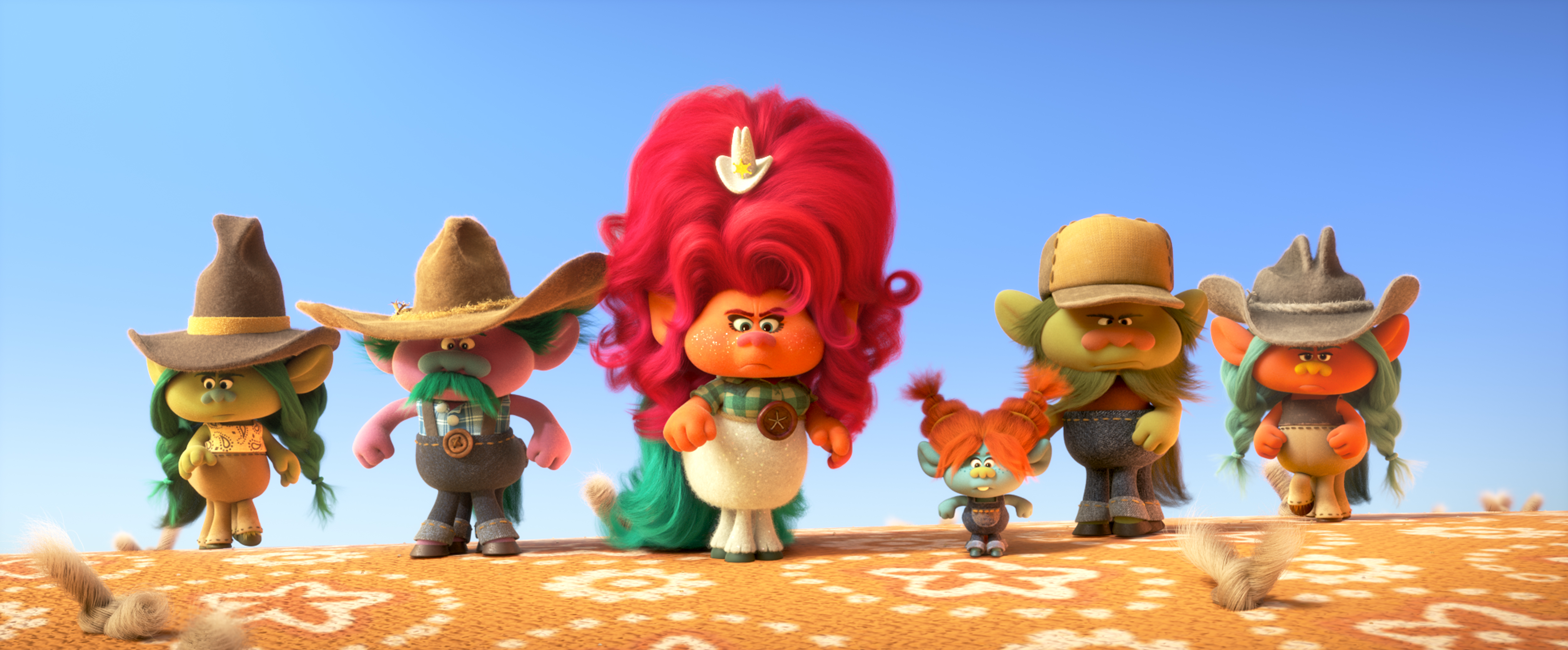 "(third from left) Delta Dawn (Kelly Clarkson) in DreamWorks Animation's ""Trolls World Tour,"" directed by Walt Dohrn."