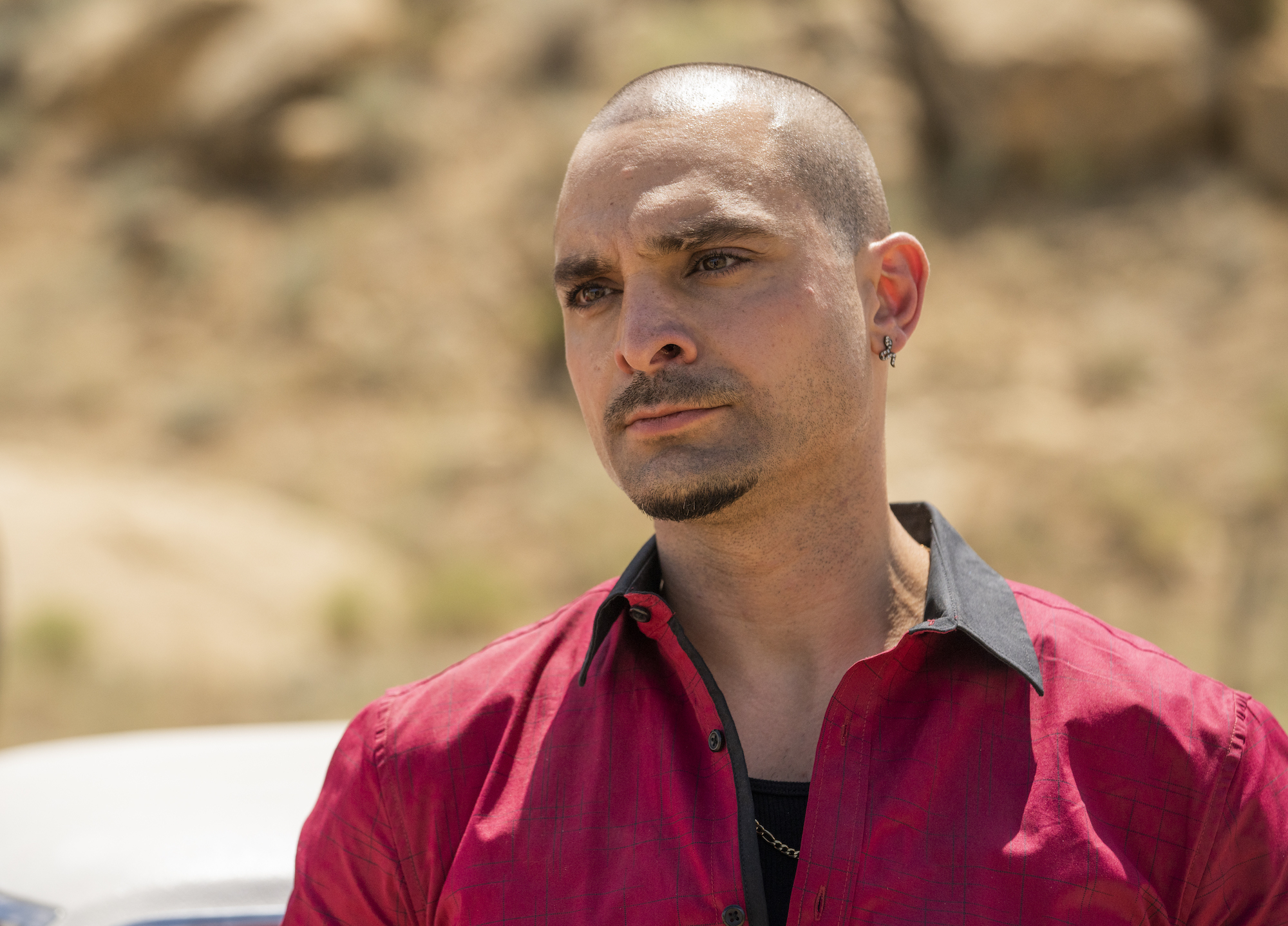 Michael Mando as Nacho Varga - Better Call Saul _ Season 5, Episode 9 - Photo Credit: Greg Lewis/AMC/Sony Pictures Television