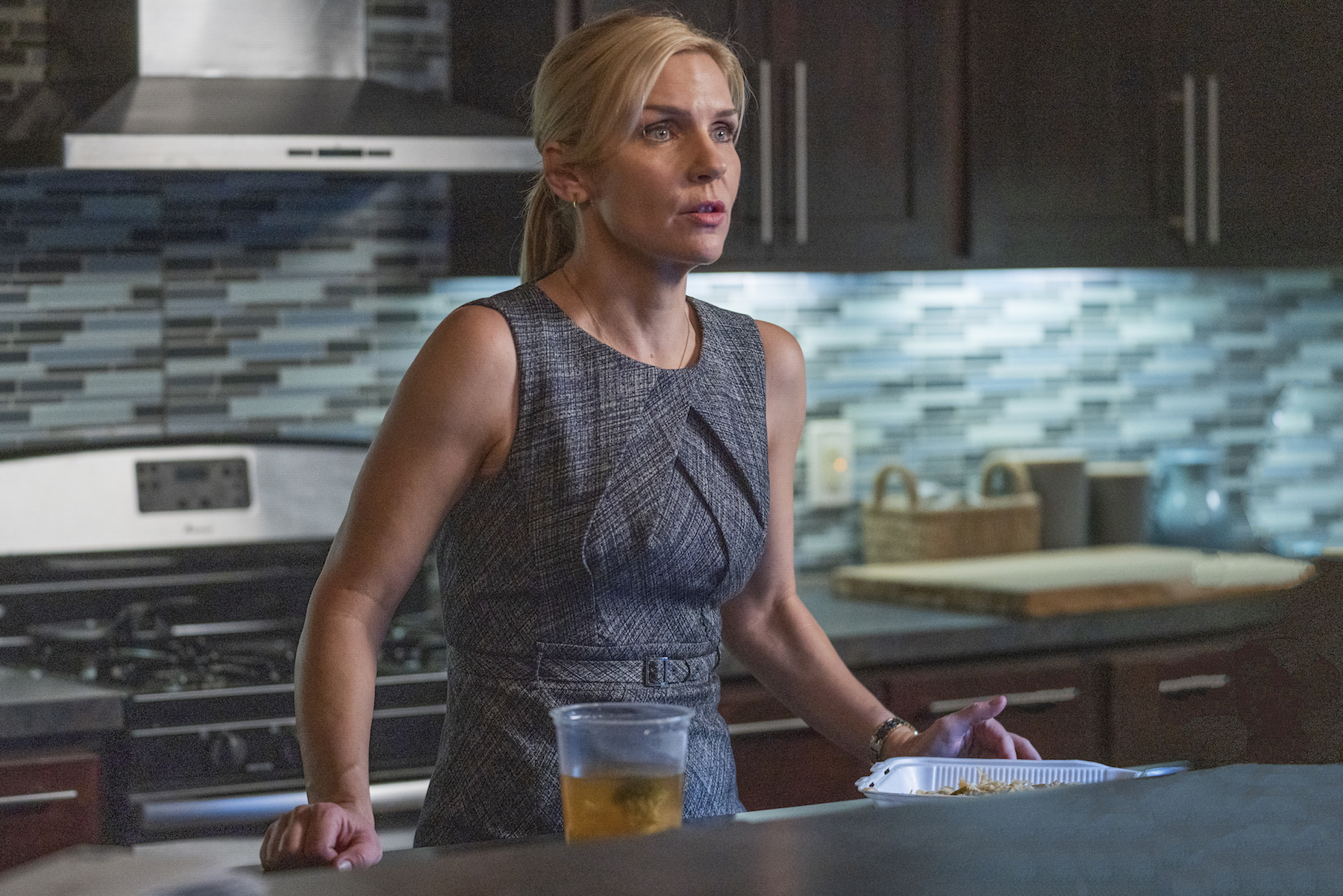 Rhea Seehorn as Kim Wexler - Better Call Saul _ Season 5, Episode 9 - Photo Credit: Greg Lewis/AMC/Sony Pictures Television