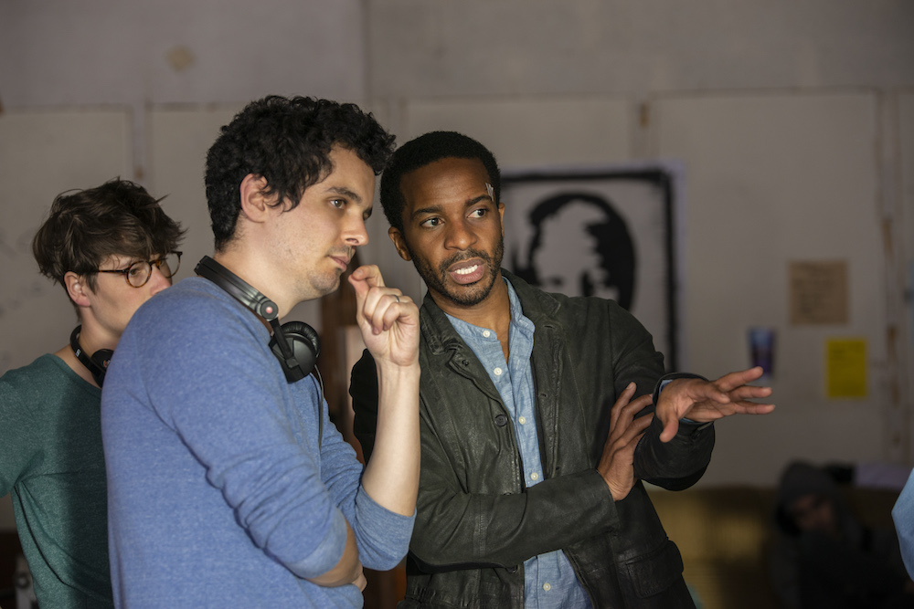"Damien Chazelle and André Holland ""The Eddy"" behind the scenes on set"