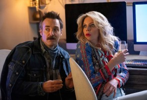 "Will Forte and Kaitlin Olson in the Quibi original series, ""Flipped"""