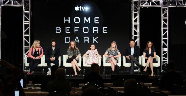 Joy Gorman Wettels, Jim Sturgess, Dana Fox, Brooklynn Prince, Hilde Lysiak, Jon M. Chu, Dara Resnik at the Winter 2020 TCA Press Tour