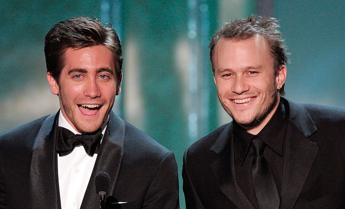 Heath Ledger e Jake Gyllenhaal: protagonistas de Brokeback Mountain no Oscar 2005. (Foto: Reprodução / Instagram)