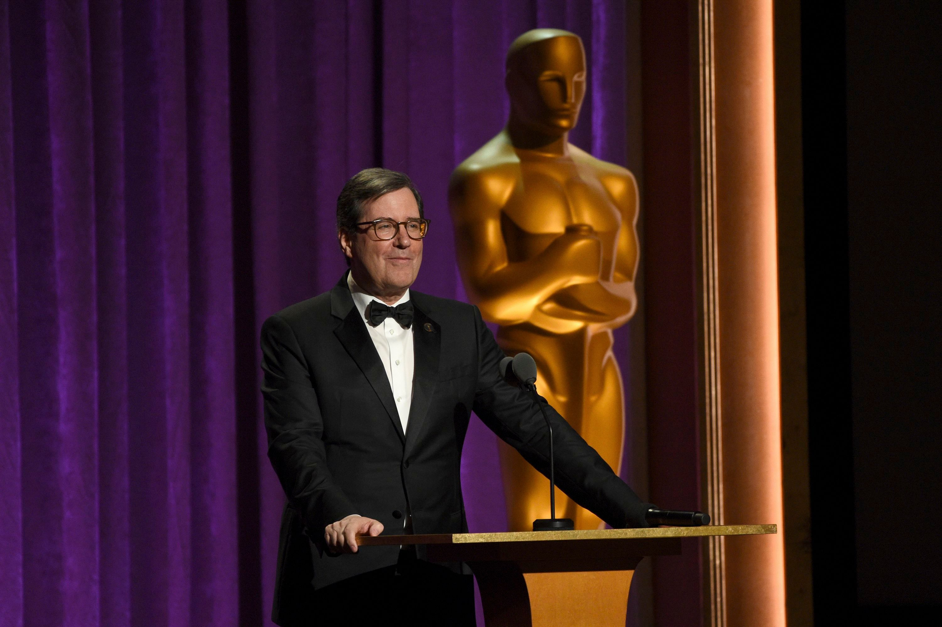 AMPAS President David Rubin speaks at the Governors Awards, at the Dolby Ballroom in Los Angeles2019 Governors Awards - Show, Los Angeles, USA - 27 Oct 2019