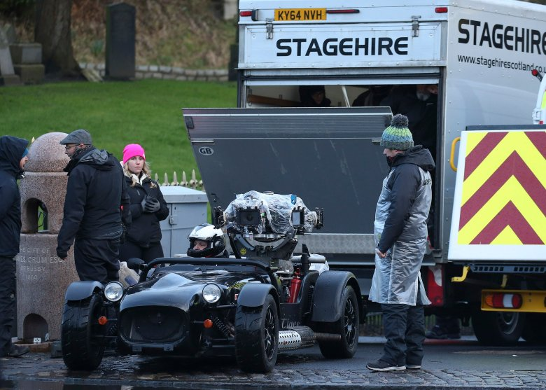 Filming for the new Batman taking place in Glasgows Necropolis graveyard.'Batman' film on set filming, Glasgow, UK - 23 Feb 2020
