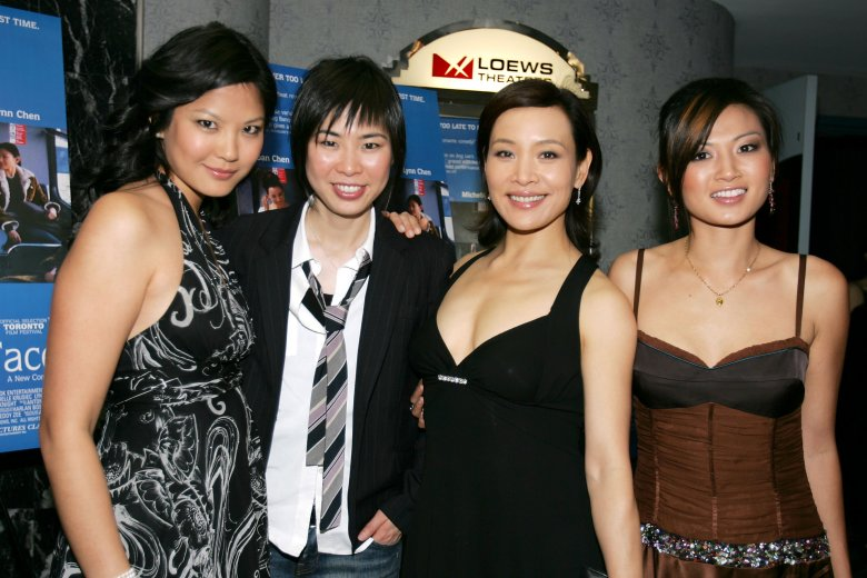 Lynn Chen, Alice Wu, Joan Chen and Michelle Krusiec'SAVING FACE' FILM PREMIERE, NEW YORK, AMERICA - 23 MAY 2005