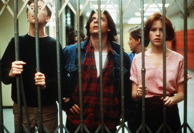 Editorial use only. No book cover usage.Mandatory Credit: Photo by Universal/Kobal/Shutterstock (5884966e)Anthony Michael Hall, Judd Nelson, Molly RingwaldThe Breakfast Club - 1985Director: John HughesUniversalUSAScene StillComedy/DramaBreakfast Club
