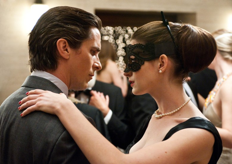 Editorial use only. No book cover usage.Mandatory Credit: Photo by Warner Bros Pictures/Kobal/Shutterstock (5885759s)Christian Bale, Anne HathawayThe Dark Knight Rises - 2012Director: Christopher NolanWarner Bros. PicturesU.S.A.Scene Still