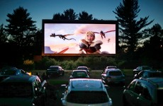 In this photo made, movie-goers watch How to Train Your Dragon 2, the first movie of a double feature at the Saco Drive-In in Saco, Maine. Drive-in movie theater operators say more than 200 of the remaining 348 drive-ins in the country have made the costly switch from film to digitalDigital Drive Ins, Saco, USA