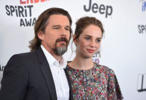 Ethan Hawke, Maya Hawke. Ethan Hawke, left, and Maya Hawke arrive at the 33rd Film Independent Spirit Awards, in Santa Monica, Calif2018 Film Independent Spirit Awards - Arrivals, Santa Monica, USA - 03 Mar 2018