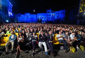 People attend the opening night of the Locarno Film Festival 2019 at Piazza Grande in Locarno, Switzerland, 07 August 2019 (issued 08 August 2019). The festival will run until 17 August 2019 and will feature films from more than 60 countries.Locarno Film Festival 2019 in Switzerland - 07 Aug 2019