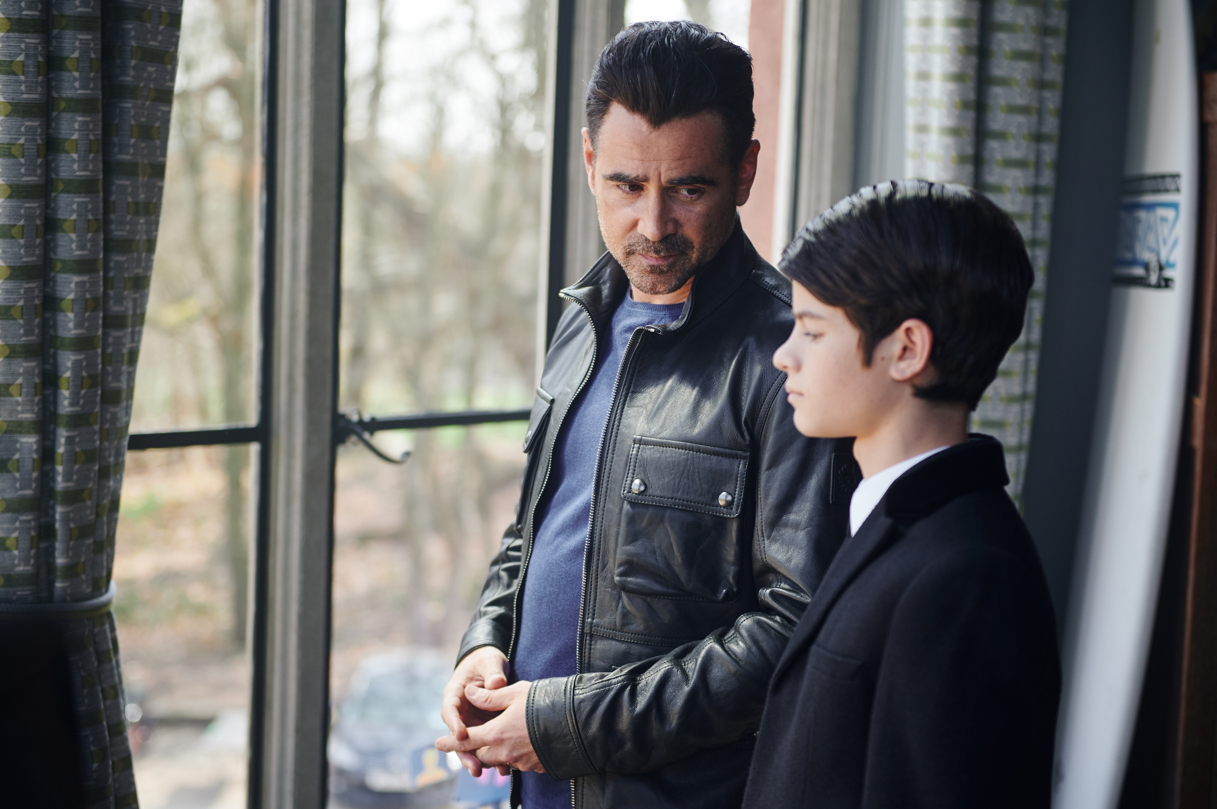 "Colin Ferrell and Ferdia Shaw in ""Artemis Fowl"""