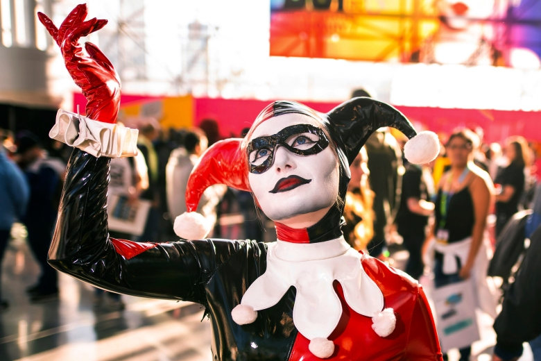 An attendee dressed as Harley Quinn poses during New York Comic Con at the Jacob K. Javits Convention Center on Saturday, Oct. 5, 2019, in New York. (Photo by Charles Sykes/Invision/AP)