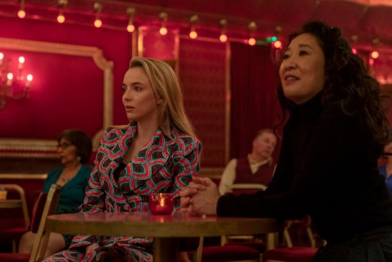 Jodie Comer as Villanelle, Sandra Oh as Eve Polastri - Killing Eve _ Season 3, Episode 8 - Photo Credit: Laura Radford/BBCAmerica/Sid Gentle