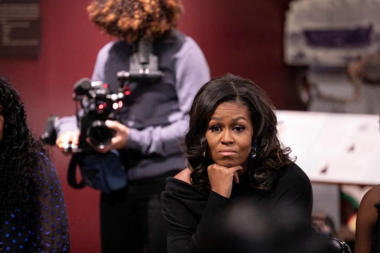 Nadia Hallgren and Michelle Obama