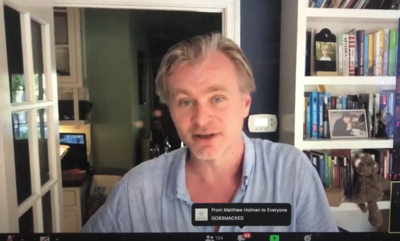 Christopher Nolan on Zoom