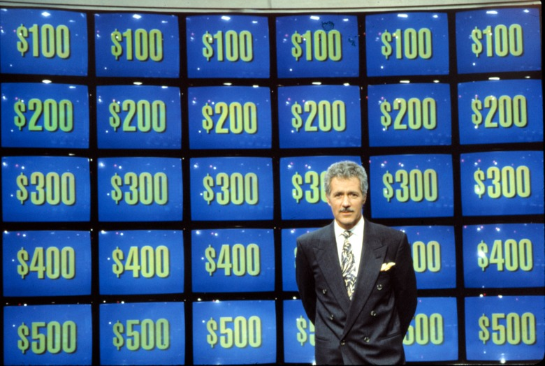 JEOPARDY, Alex Trebek, host, 2002, 1984- . (c) ABC/ Courtesy: Everett Collection.