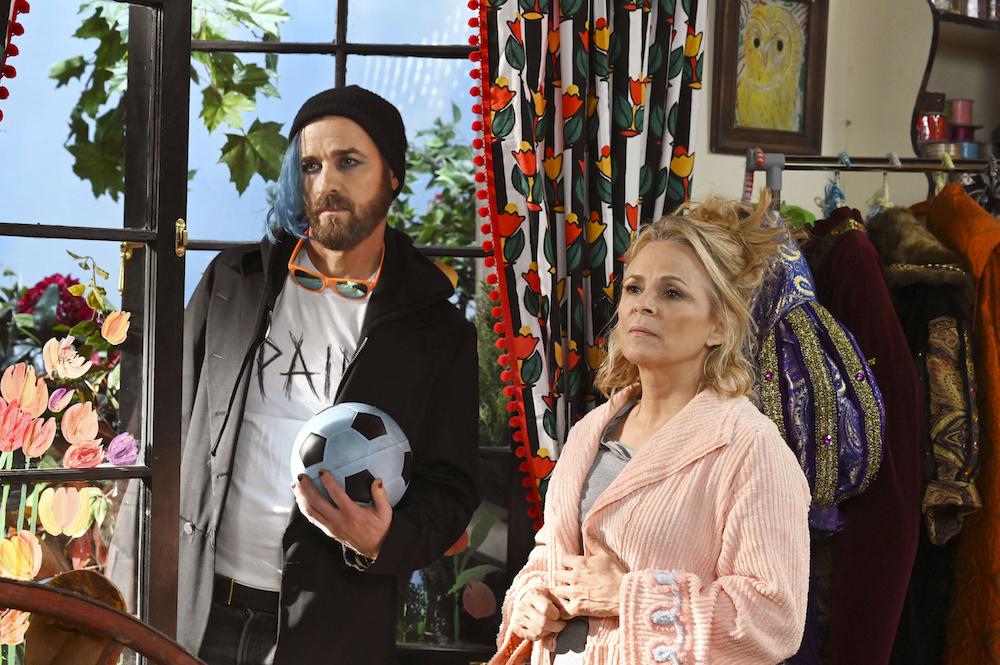 "Justin Theroux and Amy Sedaris in ""At Home with Amy Sedaris"" Season 3"
