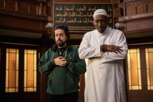 """Ramy -- """"bay'ah"""" - Episode 201 -- bro…you want real love? commit to the right person. take the bay'ah. Ramy (Ramy Youssef) and Sheikh Ali Malik (Mahershala Ali), shown. (Photo by: Craig Blankenhorn/Hulu)"""