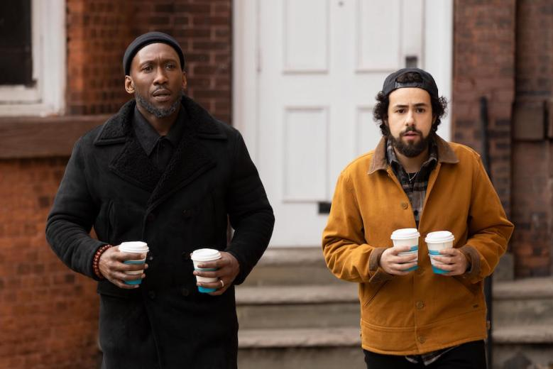 "Ramy -- ""can you hear me now?"" - Episode 202 -- i'm starting to think those guys at Verizon had a point. Sheikh Ali Malik (Mahershala Ali) and Ramy (Ramy Youssef), shown. (Photo by: Craig Blankenhorn/Hulu)"