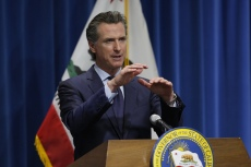 California Governor Gavin Newsom discusses his revised 2020-2021 state budget during a news conference in Sacramento, California, USA, 14 May 2020.California Governor Newsom Revised State Budget, Sacramento, USA - 14 May 2020