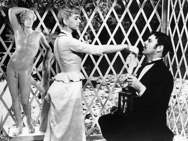 No Merchandising. Editorial Use Only. No Book Cover UsageMandatory Credit: Photo by Glasshouse Images/Shutterstock (4598238a)Anita Bjork and Ulf Palme, on-set of the Film, 'Miss Julie (Froken Julie)' directed by Alf Sjöberg, 1951VARIOUS