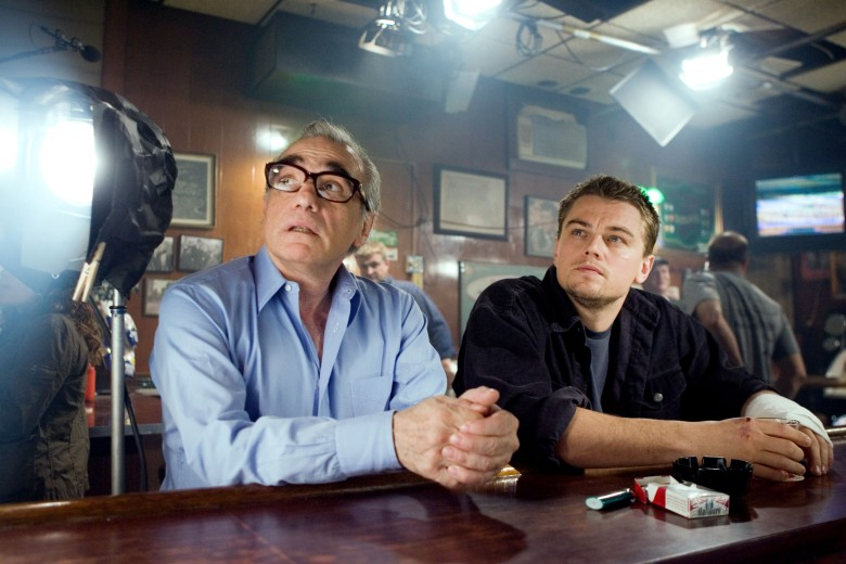 Editorial use only. No book cover usage.Mandatory Credit: Photo by Warner Bros/Kobal/Shutterstock (5886259ba)Martin Scorsese, Leonardo DicaprioThe Departed - 2006Director: Martin ScorseseWarner Bros.USAOn/Off SetDocumentaryLes infiltrés
