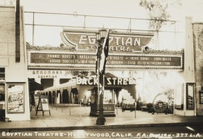 Grauman's Egyptian Theatre Hollywood California the Film Showing at the Time Was 'Back Street' (remade in Both 1941 & 1961!) Starring Irene Dunne and John Boles 1922Historical Collection 157