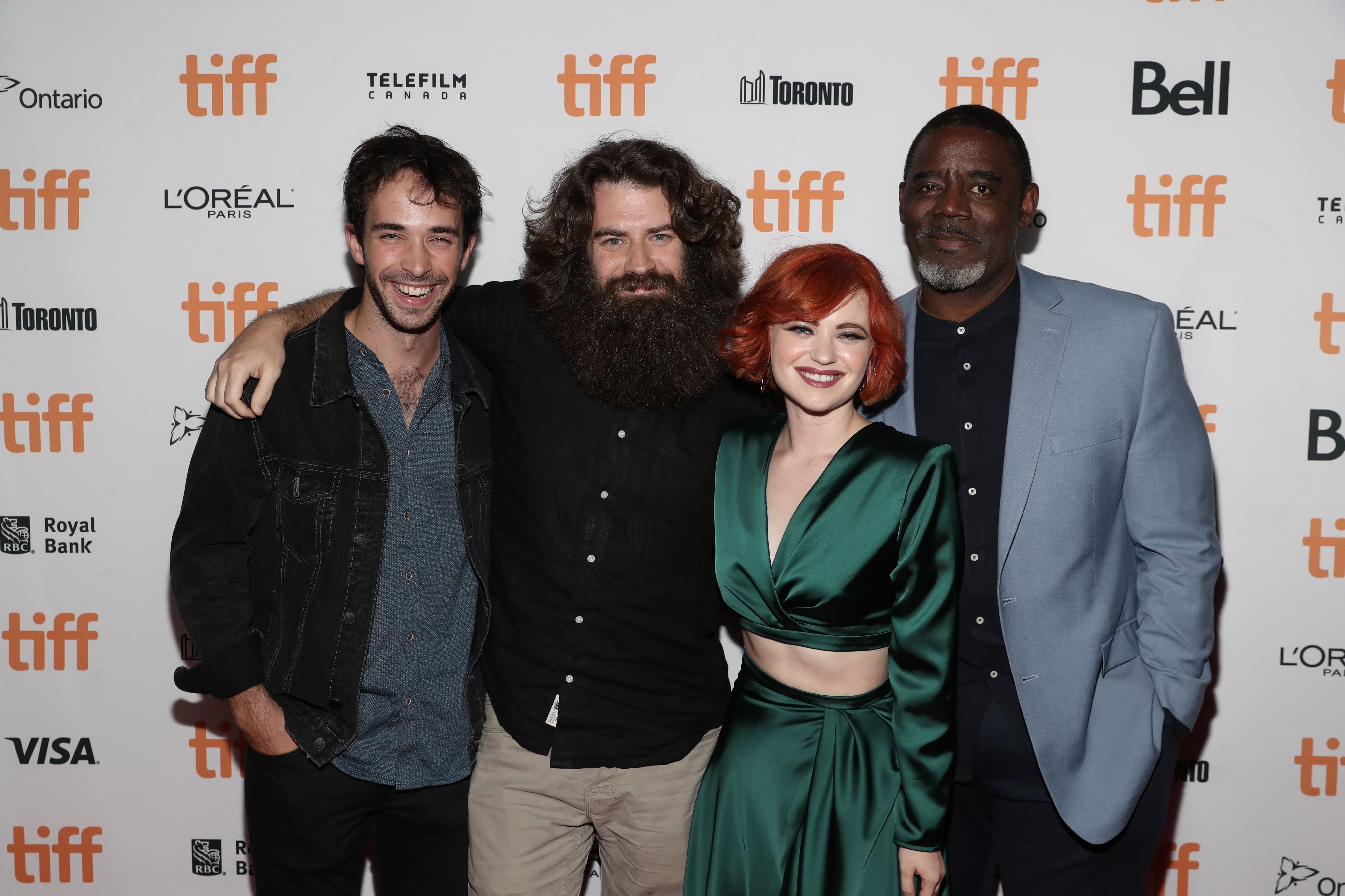 Jake Horowitz, Director Andrew Patterson, Sierra McCormick and Bruce Davis'The Vast of Night' premiere, Arrivals, Toronto International Film Festival, Canada - 12 Sep 2019