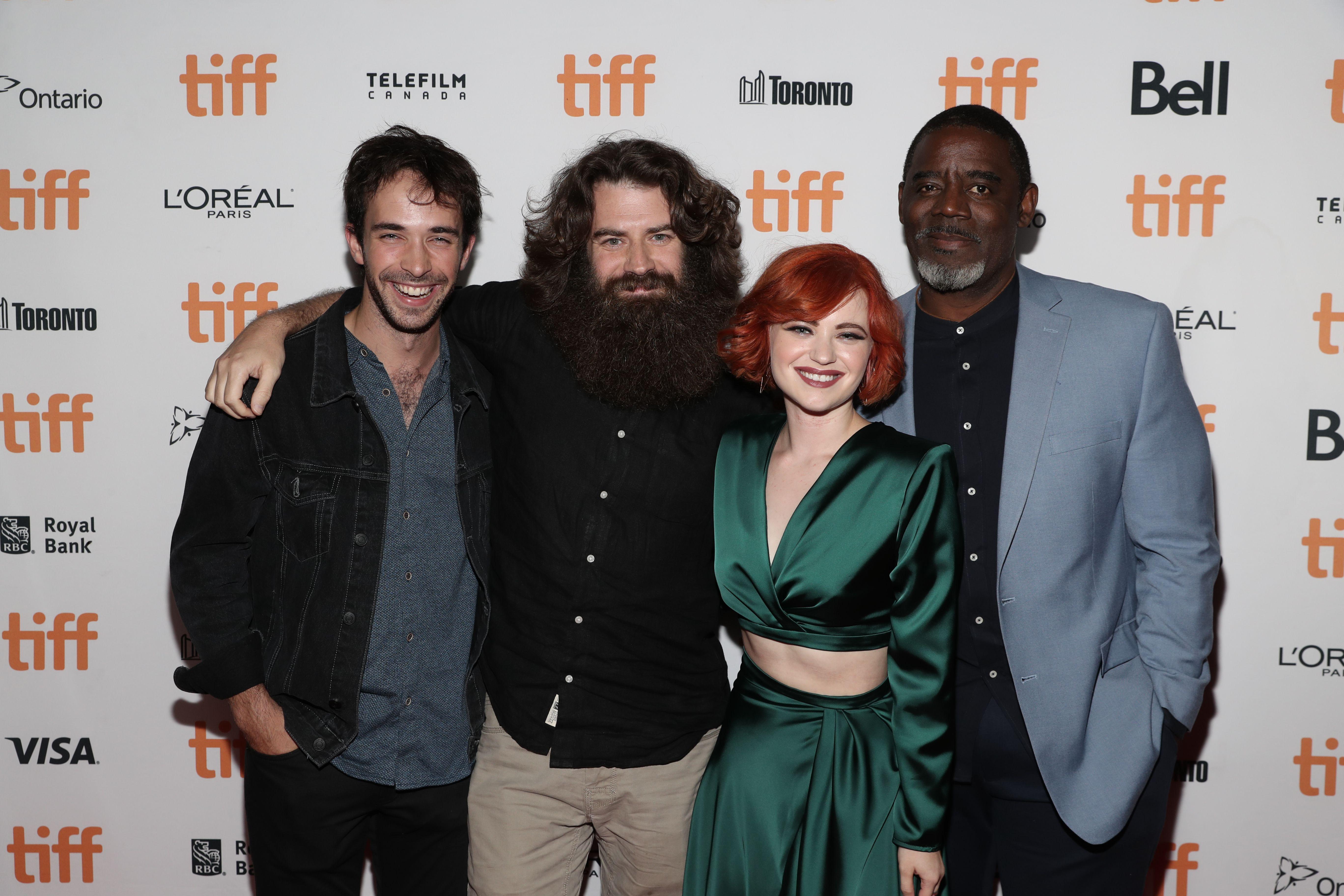 Jake Horowitz, Director Andrew Patterson, Sierra McCormick and Bruce Davis'The Vast of Night' premiere, Arrivals, Toronto International Film Festival, Canada - 12 Sep 2019
