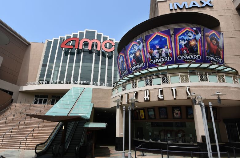 The currently closed AMC Burbank 16 movie theatres complex is pictured, in Burbank, CalifFilm Theatrical Window Cracks, Burbank, United States - 29 Apr 2020