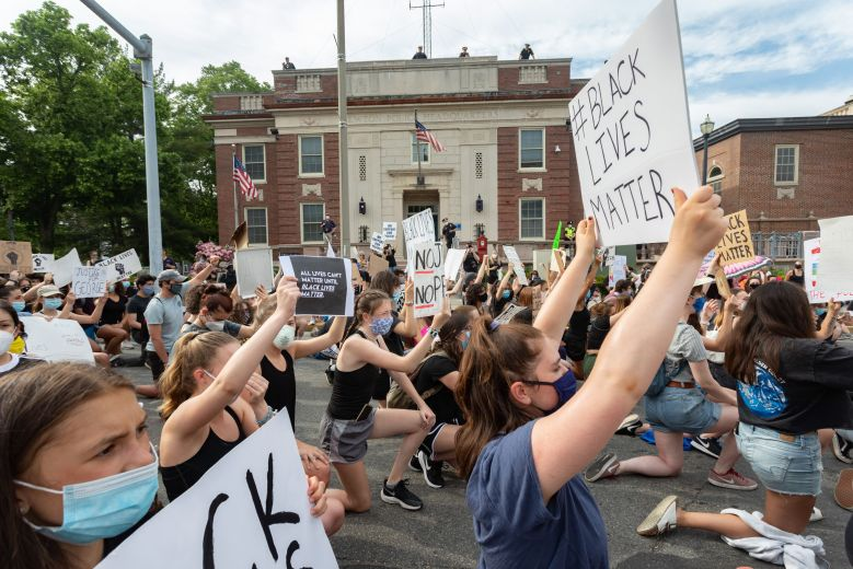 Protesters rally against the death of