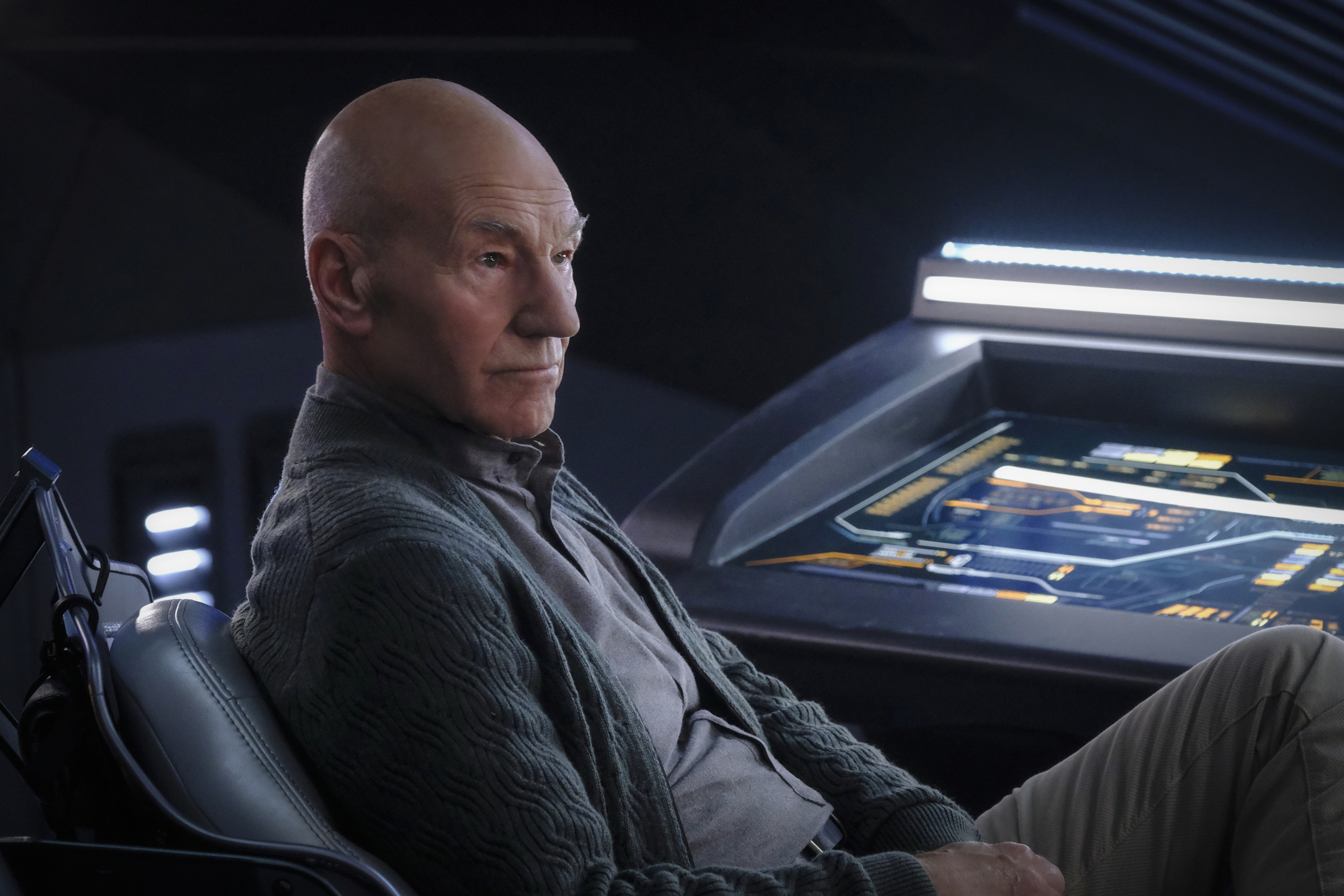 """Development of """"Picard"""" Season Two has continued throughout the lockdown, with Stewart taking Zoom meetings with the writers to hone the scripts and even several """"magnificent"""" sets having been built."""