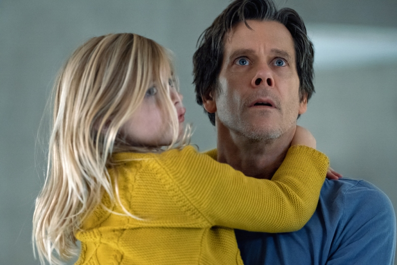 (from left) Ella Conroy (Avery Essex) and Theo Conroy (Kevin Bacon) in You Should Have Left, written and directed by David Koepp.