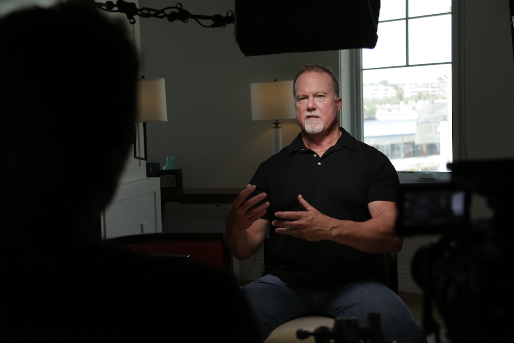 """Mark McGwire being interviewed for """"Long Gone Summer"""" ESPN 30 for 30"""