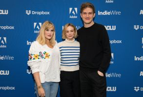 Emerald Fennell, Carey Mulligan and Bo BurnhamIndieWire Sundance Studio presented by Dropbox, Day 3, Sundance Film Festival, Park City, USA - 26 Jan 2020