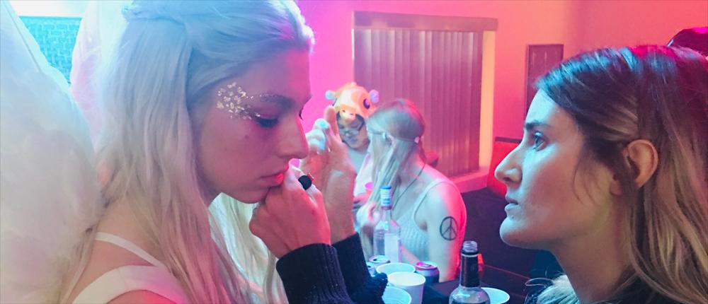 """""""Euphoria"""" Makeup Artist Doniella Davy with Hunter Schafer"""